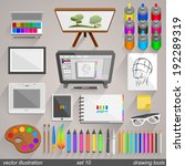 vector drawing tools style. set ... | Shutterstock .eps vector #192289319