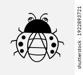 Ladybug Vector Icon. Flat...