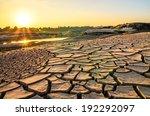 evening light of drought land ...   Shutterstock . vector #192292097