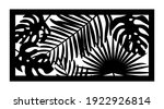 cnc pattern with palm leaves.... | Shutterstock .eps vector #1922926814