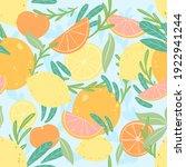 summer citrus seamless pattern. ... | Shutterstock . vector #1922941244