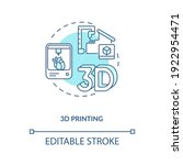 3d printing concept icon.... | Shutterstock .eps vector #1922954471