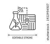 gps soil sampling linear icon....   Shutterstock .eps vector #1922954507