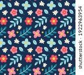 seamless cute vector spring...   Shutterstock .eps vector #1922963954