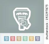 parking meter ticket | Shutterstock .eps vector #192297875