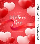 happy mother's day cute pink... | Shutterstock .eps vector #1922981534