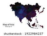 abstract polygon map   vector...   Shutterstock .eps vector #1922984237