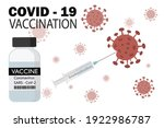 medical disposable syringe with ... | Shutterstock .eps vector #1922986787