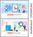 implementing business solutions ... | Shutterstock .eps vector #1923001361