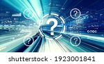 question marks with abstract...   Shutterstock . vector #1923001841