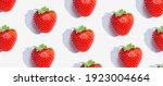fresh red strawberries overhead ...   Shutterstock . vector #1923004664