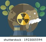manufacture pollutes air and... | Shutterstock .eps vector #1923005594
