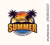 summer beach logo vector... | Shutterstock .eps vector #1923015227