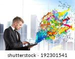 creative technology with... | Shutterstock . vector #192301541