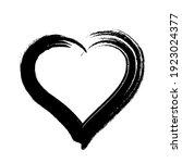 scribble heart shape sketch... | Shutterstock . vector #1923024377