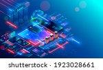 bank online. mobile internet... | Shutterstock .eps vector #1923028661