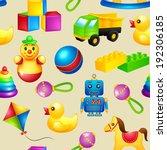 decorative children toys... | Shutterstock .eps vector #192306185