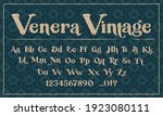 a decorative typeface in the... | Shutterstock .eps vector #1923080111