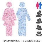 line mosaic based on adult pair ...   Shutterstock .eps vector #1923084167