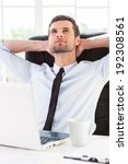 day dreaming in office.... | Shutterstock . vector #192308561