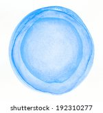 watercolor circle shape... | Shutterstock . vector #192310277