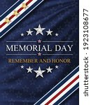 memorial day background with... | Shutterstock .eps vector #1923108677