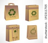 vector paper bags  recycle... | Shutterstock .eps vector #192311705