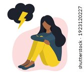 black woman in bad mood concept ...   Shutterstock .eps vector #1923120227