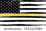 grunge usa flag with a thin... | Shutterstock . vector #1923125684