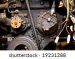 close up old diesel car engine | Shutterstock . vector #19231288