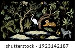 jungles trees and animals... | Shutterstock .eps vector #1923142187