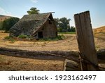 Derelict Wooden Barn. An Old  ...