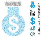 line mosaic based on financial...   Shutterstock .eps vector #1923181487