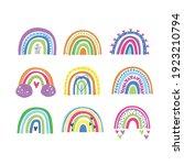 rainbow isolated on white...   Shutterstock .eps vector #1923210794