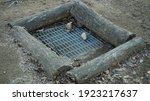 Sewer Surrounded By Logs On The ...