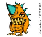 Monster Rhino Cartoon Vector....