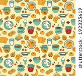 vector seamless breakfast... | Shutterstock .eps vector #192325619
