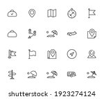 simple set of travel icons in... | Shutterstock .eps vector #1923274124
