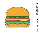 burger vector icon illustration.... | Shutterstock .eps vector #1923289094