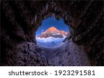 Cave Entrance In Winter Snow...
