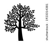 black tree in abstract style.... | Shutterstock .eps vector #1923314381