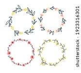 set of round floral frame... | Shutterstock .eps vector #1923316301