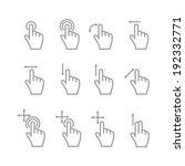hand touch. vector | Shutterstock .eps vector #192332771