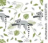 seamless pattern of jungle...   Shutterstock .eps vector #1923337181