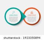 minimal business infographics... | Shutterstock .eps vector #1923350894