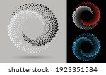halftone round as icon or... | Shutterstock .eps vector #1923351584