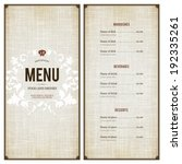 restaurant menu design | Shutterstock .eps vector #192335261