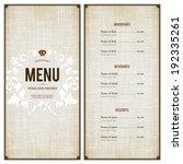 restaurant menu design | Shutterstock .eps vector #192335261