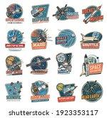 Space Vector Retro Icons Mars...