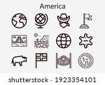 premium set of america  s ... | Shutterstock .eps vector #1923354101
